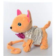 """Интерактивная собачка """"Кикки"""" в сером с пайетками, Toys, M4307"""
