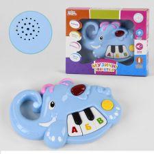 """Музичне піаніно """"Музичні звірята"""" слоник, Zabavka, UKA-A0018-3"""