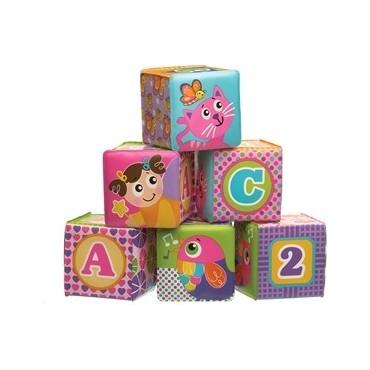 Іграшка-кубик м'який 6 шт., PLAYGRO, 184164