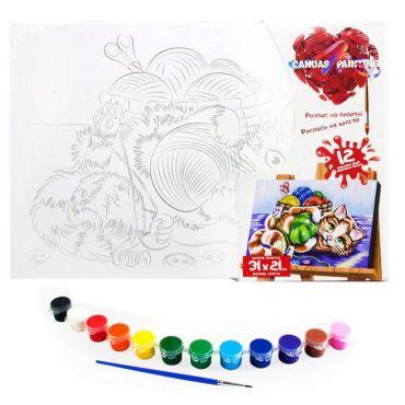 """Набір для творчості """"Картина за номерами. Кошеня 31х21см"""", Danko Toys, PX-06-09"""