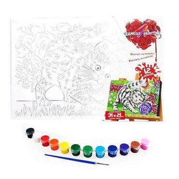 """Набір для творчості """"Картина за номерами. Кошеня 31х21см"""", Danko Toys, PX-06-08"""