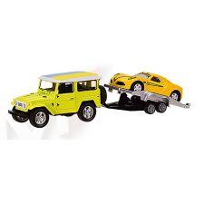 "Модель ""Автопром""Машина з причепом, жовтого кольору (1:50) звуки та світло, 7415"