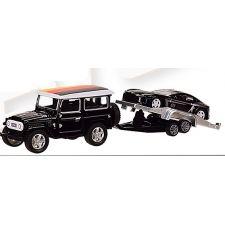 "Модель ""Автопром""Машина з причепом, чорного кольору (1:50) звуки та світло, 7415"