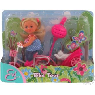 Лялька Еві на велосипеді, 12см, Simba, 5730783