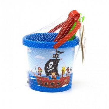 """Набір для піску """"Пірати"""" 3 ел. з термонаклейкою, Tigres, 39634"""