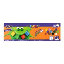 Набір гуашевих фарб 12 кольорів, ZiBi, ZB.6651