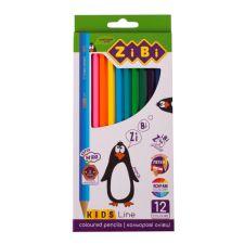 Олівці кольорові Kids Line 12 кольорів, ZiBi, ZB.2414