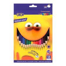 Олівці кольорові Kids Line 18 кольорів, ZiBi, ZB.2425