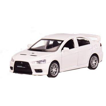 """Модель """"Автопром"""" «Mitsubishi Lancer Evolution» , білого кольору (1:41) звуки та світло, 4335"""