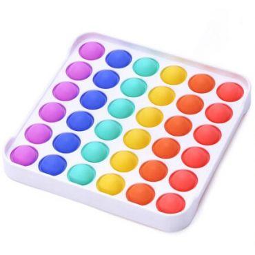 Сенсорна іграшка Pop It антистрес, квадрат різнокольоровий, Toys