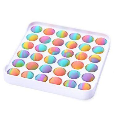 Іграшка Pop It антистрес, квадрат різнокольоровий, на твердій пластиковій основі, Toys