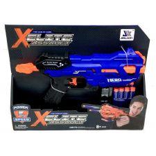 Пістолет з м'якими кулями, синій, Toys, JLX7218