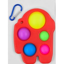 Сенсорна іграшка Pop It антистрес Among Us, Simple Dimple, червоного кольору, Toys, C45448