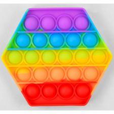 Сенсорна іграшка Pop It антистрес, шестикутник різнокольоровий, Toys, C45483