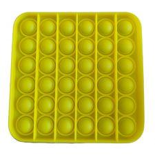 Сенсорная игрушка Pop It антистресс, квадрат желтый цвет, Toys