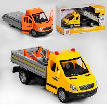"""Автомобіль інерційний, звук/світло """"Пожежний шериф"""" червона, серії """"Службовий транспорт"""" (1:16), WenYi, WY620C"""