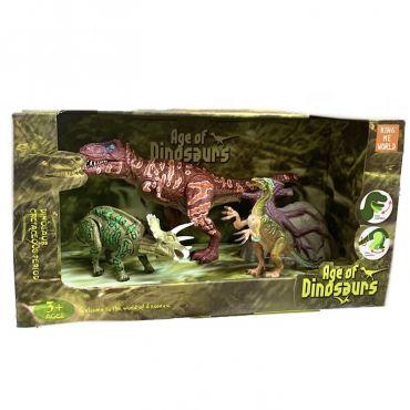 Набір динозаврів з рухливим кінцівками 3шт, 3302-15 /3302-14