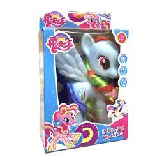 Фігурка поні з колечком, 14см, блакитна, Toys, Q4-G2-G3