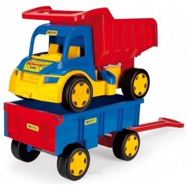 Wader Большой игрушечный грузовик Гигант + тележка, 65100