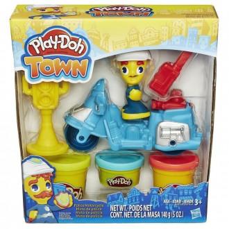 """Набір пластиліну Play-Doh Town """"Поліцейський мотоцикл"""", B5959"""