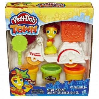 """Набір пластиліну Play-Doh Town """"Доставка піци"""", B5959"""