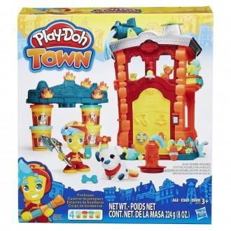 "Набор пластилина Play-Doh Town ""Пожарная часть"", B3415"