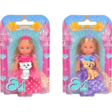 """Лялька Еві """"Принцеса з улюбленцем"""", 12 см, 5736260"""