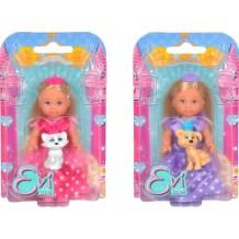 """Кукла Эви """"Принцесса с питомцем"""", 12 см, 5736260"""