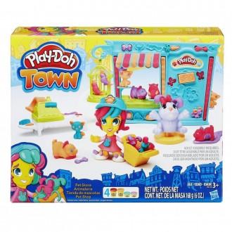 """Набір пластиліну Play-Doh Town """"Крамничка домашніх вихованців"""", B3418"""