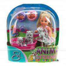 Кукла Эви с животными, 12 см, 5734191