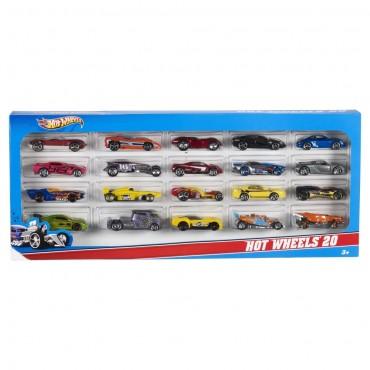 Подарунковий набір автомобілів (20шт.) Hot Wheels, H7045