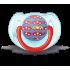 """Ортодонтическая силиконовая пустышка """"Дизайн"""", 6—18 мес., scf172/14"""